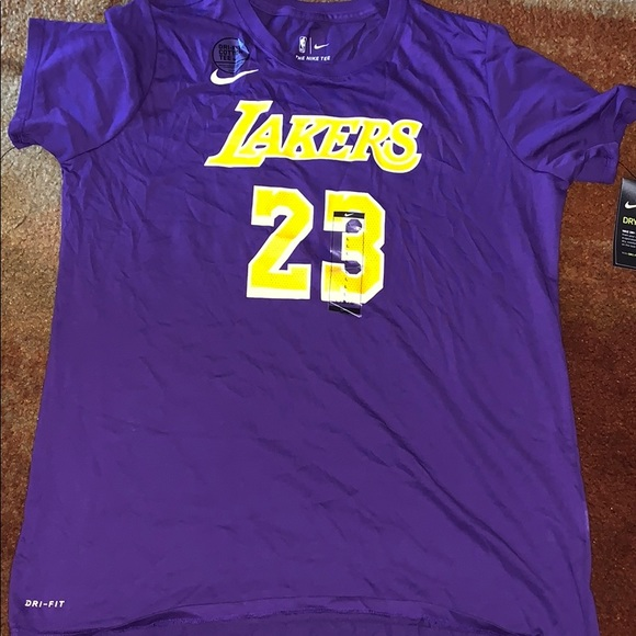 cheaper d131b 73f3a New Nike Los Angeles Lakers Lebron James Shirt NWT
